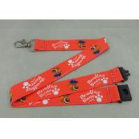 Quality Heat Transfer Promotional Lanyards Shot Straps Red Printed Lanyards for sale