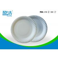 Quality Food Contact Safety Bulk Disposable Plates , Biodegradable Paper Plates For Barbeque for sale