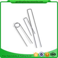 Buy cheap Galvanized Silver Earth Garden Landscape Staples Keep Row Covers Item Garden Earth Staples from Wholesalers