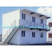 Quality Economical Combined Prefab Container House With EPS Sandwich Panel Wall for sale