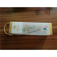 Quality Frosted At Surface Cardboard Food Packaging Boxes With String , Wine PVC Gift Boxes for sale