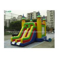 Quality Bright Colored Small Inflatable Bouncy Castles With Slide  for Children for sale