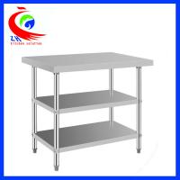 304 stainless steel commercial kitchen tables 3 layers for Durable kitchen table