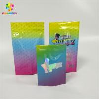 Quality Smell Proof Zip Lock Snack Packaging Bags , Laminated Custom Printed Snack Bags for sale