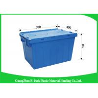 Light Weight Plastic Attached Lid Containers Moving Storage Nestable And Stackable
