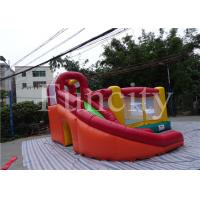 Quality 0.55mm PVC Tarpaulin Inflatable Jumping Castle Kids Inflatable Bouncer With Slide for sale