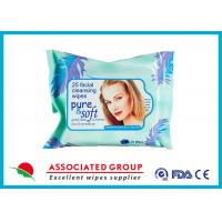 Quality Facial Natural Makeup Remover Wipes Feminine Hygiene Unscented Biodegradable for sale