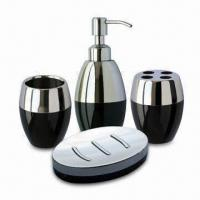 Quality Bathroom Set in Same and Attractive Color, Made of Stainless Steel with Acrylic Plastic for sale