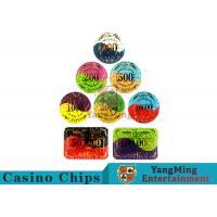 Security Promotional Casino Poker Chips With Smooth And Delicate Texture