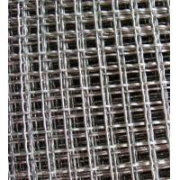 Quality SUS304 Steel Crimped Wire Mesh Galvanized Square Hole For Vibrating Screen Filter for sale