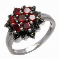 Quality Amethyst Silver Ring, Available in Various Styles for sale
