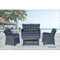 Quality Aluminium Frame Garden Rattan Sofa Set With Cushion Waterproof 4 Piece for sale