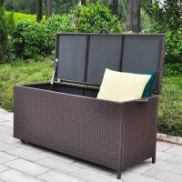Quality High quality and huge capacity outdoor rattan storage boxes with wheel for sale