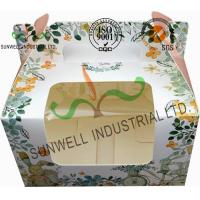 Quality Recycled White Cardboard Cake Packaging Boxes With Lids Full CMYK Printing for sale