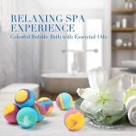 Quality Nature Scent 9 Pcs Bubble Bath Bombs For Women / Bath Fizzies For Kids for sale