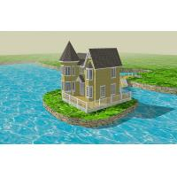 Quality Anti-UV Eco-friendly WPC House Brushed for Living and Relaxing for sale
