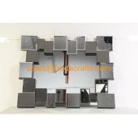 Buy cheap FR-16724 clear mirror color 3D rectangle shape venetian wall mirror from wholesalers