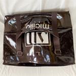 Quality PVC mirror leather lacquered leather split off shoulder bag travel bag shopping bag gym bag for sale