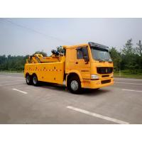Quality Wrecker Tow Truck , 3 Winches Road Wrecker For Accidents And Parking Violations for sale