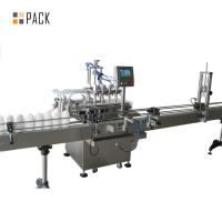 China High Accuracy Automatic Oil Filling Machine Touch Screen PLC Control on sale