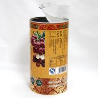 Quality Eco-friendly Cylinder Full Opening Easy Open Lid Paper Composite Cans for Dried Fruits Nuts Coffee for sale