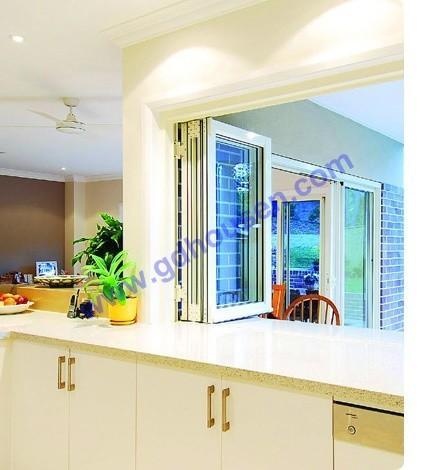 Aluminium folding window kitchen window horizontal folding for Kitchen windows for sale