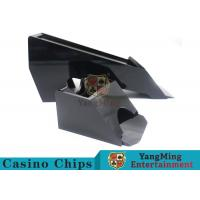 Quality Black Color Gambling Dedicated Casino Card Shoe , One Deck Shoe For Poker Cards for sale