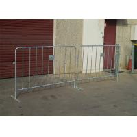 Quality Electric Galvanized Temporary Fencing Crowd Control Barriers Metal Pedestrian Barriers for sale