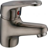 China One Handle Deck Mounted Brushed Nickel Basin Tap Faucets , Antique Brass Bathroom Faucets on sale