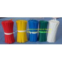 Quality plastic single wire bag closure/twist ties for sale