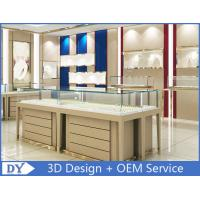 Quality High End Store Jewelry Display Cases , Wood Gold Shop Jewelry Showroom Furniture for sale