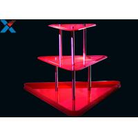 Buy Crystal Clear Acrylic Display Stands 3 Layer Lucite Wedding Wine Stand at wholesale prices