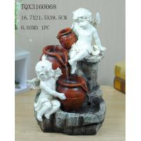 Quality Angel Hand Painting Polyresin Water Fountain Landscape Electricity Power for sale