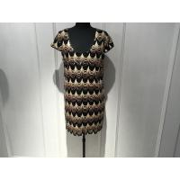 Quality Sleeveless Beading Round Neck Ladies Straight Fitted Dresses for Spring / Autumn for sale
