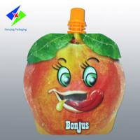 Quality fruit shape bags, stand up bag with spout, liquid pouch,jelly packaging,can up to 13 colors for sale