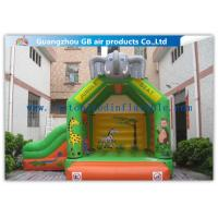 Quality Elephant Animal Shape Inflatable Bouncy Castle With Slide For Children Games for sale