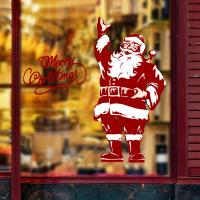 Quality Multi Size Santa Claus Stat Holiday PVC Wall Sticker Home Decoration Eco - Friendly for sale