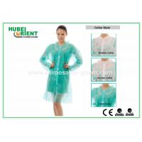 Quality PP & MP & TVK Disposable Laboratory Coats With Velcro And Shirt Collar for sale