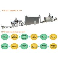 Quality Industrial Automated Pet Food Extruder Machine Siemens PLC & Touch Screen Controlled for sale