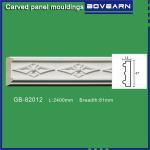 Quality High density polyurethane foam panel mouldings various designs 47mm width color customized OEM cervice for sale