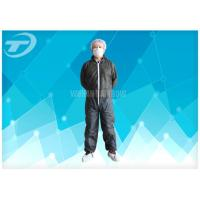 Quality S To 5XL Disposable Coverall Suit / Disposable Hooded Coveralls PE Coated For Men for sale