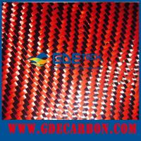 China Red carbon fiber fabric on sale