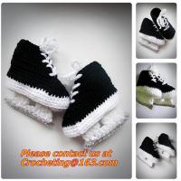 China Baby Shoes Infants Crochet Knit Fleece Boots Toddler Girl Boy Wool Snow Crib Shoes Winter Booties on sale