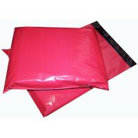 Quality Red 14'' X 6.5'' Printed Heavy Duty Plastic Polythene Mailing Bags Biodegradable for sale