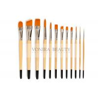 China Nylon Body Paint Brushes For Acrylic Oil & Watercolor Student Artist Brushes For Beginners & Fine Art Painters on sale