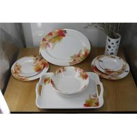 Quality Melamine tableware sets flower plate dish plastic handle tray for sale