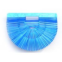 Plastic Basket Acrylic Clutch Bag Large Space Unique Shape For Travelling