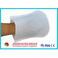 Quality Coat Plastic Film Body Wash Gloves Small Dot 50 % Vis + 50 % Pes Material for sale