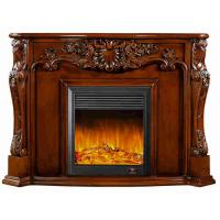 China Electrical Home Decoration Classic Solid Wood Fireplaces With LED Light on sale