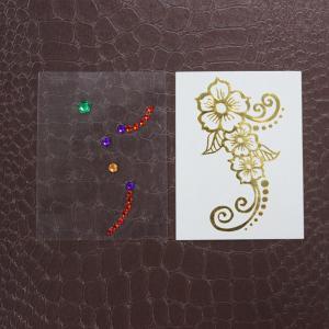 Crystal jewel body tattoos quality crystal jewel body for Rhinestone body tattoos
